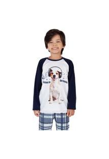 Pijama Xadrez Dog Infantil Menino - Toque Kids