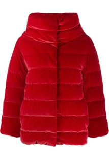 Herno High-Neck Quilted Jacket - Vermelho
