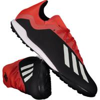 56b5899c51 Chuteira Adidas X 18.3 Tf Society Preta E Vermelha