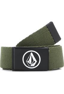 Cinto Volcom Circle Army Verde