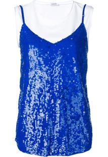 P.A.R.O.S.H. Vestido Com Sobreposição E Paetês - Azul