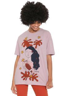 Camiseta Cantão Deusa Atena Lilás