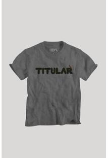 Camiseta Filho Titular Reserva Mini Infantil Masculino - Masculino-Chumbo