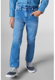 Calça Sm Estique Se Lavado Reserva Mini Infantil Masculina - Masculino-Azul