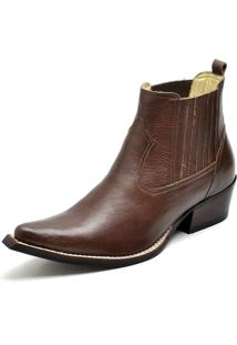 Botina Bota Country Bico Fino Top Franca Shoes Cafe