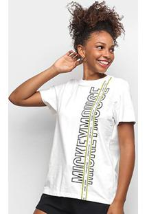 Camiseta Colcci Disney Mickey Mouse Feminina - Feminino-Marrom
