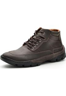 Bota Cano Curto Over Boots Destroyer Couro Marrom