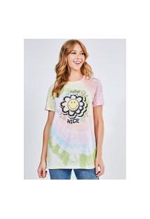 Camiseta Smiley Tie Dye