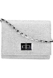 Bolsa Santa Lolla Mini Bag Cristal Feminina - Feminino-Prata 7952f63b4a