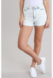 Short Jeans Feminino Hot Pants Azul Claro