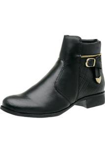 Bota Coturno Feminino Top Franca Shoes - Feminino-Preto