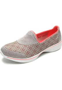 Slipper Skechers Go Walk 4 Cinza