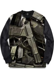 Blusa Bsc Pistols Full Print - Masculino
