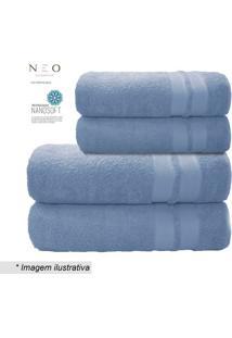 Toalha De Banho Neo Allure- Azul Claro- 70X140Cmcamesa