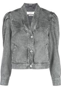 Isabel Marant Étoile Hacene Acid Wash Jacket - Cinza