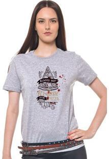 Camiseta Feminina Joss - Always Hot - Feminino-Mescla