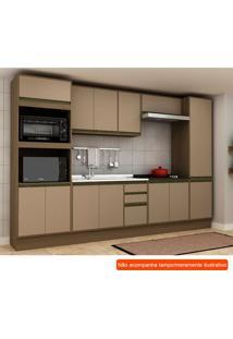 Cozinha Compacta Safira 13 Pt 3 Gv Capuccino E Avelã