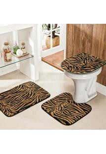 Jogo Banheiro Dourados Enxovais Safari Standard 3 Pecas Tigre