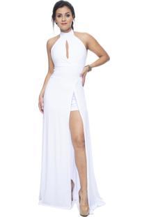Vestido Estilo Fino Social Festa Longo Branco