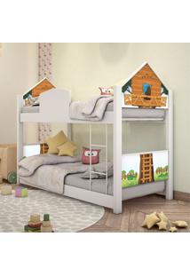 Beliche Infantil Casinha Prime Casa Na ÁRvore Com Colchãµes Casah - Branco/Multicolorido - Menino - Dafiti