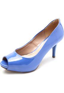 Peep Toe Doc Dog Salto Fino Azul