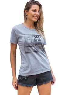 Camiseta Basica My T-Shirt Data Base Mescla - Cinza - Feminino - Algodã£O - Dafiti