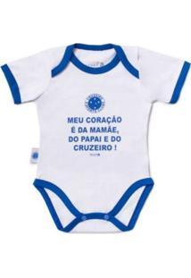 """Body Reve D'Or Sport Meu Coração É..."""" Cruzeiro Branca E Azul"""""""