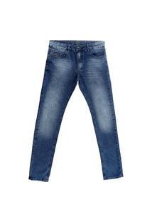 Calça Crawling Masculina Jeans Skinny Azul