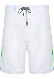 Bermuda Masculina Agua Neon - Branco