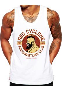 Camiseta Regata Criativa Urbana Fitness Red Cyclone Branca 712fa5494a558
