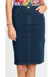 Saia Jeans Clássica Azul Médio