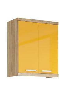 Armário Multimóveis Sicília 70Cm Com 2 Portas 5126 Argila/Amarelo