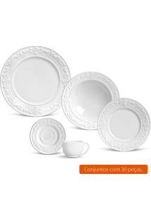 Aparelho De Jantar Com 30 Peças Acanthus I Branco