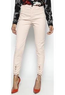 0b061223d Calça Skinny - Sophia Com Amarração- Rosêbeagle