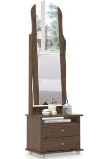 Mesa De Cabeceira Com Espelho Magic 2 Gv Imbuia
