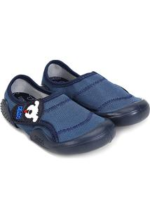 Sapato Infantil Klin New Confort Masculino - Masculino-Azul