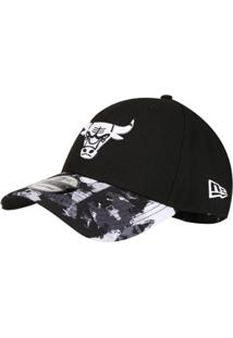 fa86e410b Boné New Era Nba Chicago Bulls Aba Curva 940 Hp Sn Allover - Unissex-Preto