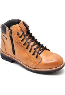 Bota D&R Shoes Couro Masculino - Masculino-Caramelo