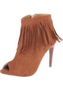 Open Boot Dafiti Shoes Franjas Caramelo