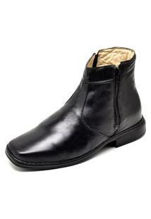 Bota Botina Social Conforto Top Franca Shoes Preto