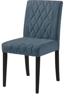 Cadeira Menta Assento Cor Azul Com Base Laca Preto Fosco - 46452 Sun House