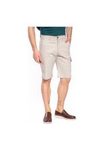 Bermuda Sarja Aero Jeans Bege