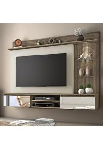 Painel Para Tv Até 60 Polegadas 2 Gavetas Bellagio 52135 Canela/Areia - Notável