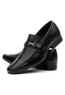 Sapato Masculino Social Em Couro - Preto