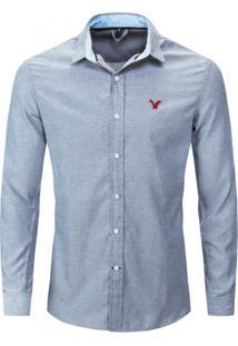 Camisa Social American Oxford - Cinza G