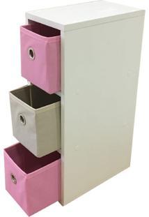Gaveteiro Organibox Colorido Rosa