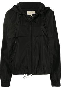 Michael Michael Kors Hooded Shell Jacket - Preto