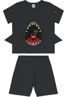 Pijama Infantil Cinza