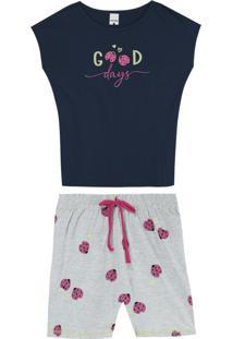 Pijama Azul Marinho Good Days