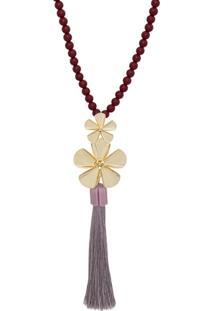 Colar Le Diamond Flor Vermelho - Kanui